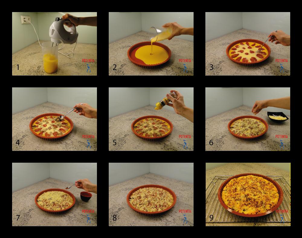 Jajčna pita s čilijem-postopek