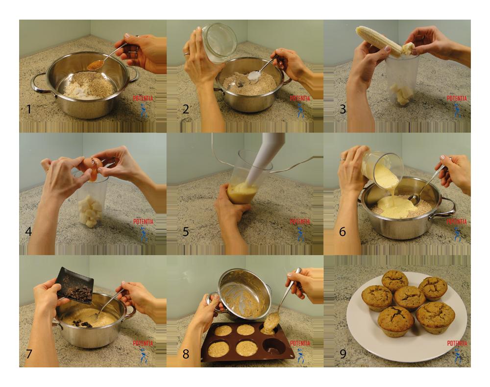 Beljakovinski muffini-postopek