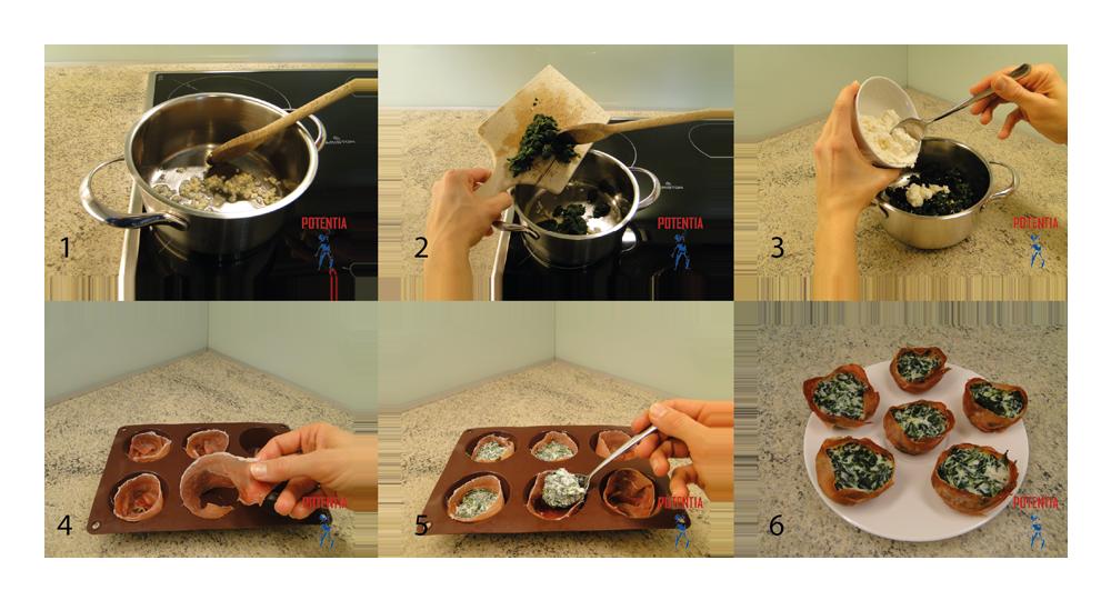 Pršutovi kolački-postopek